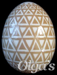 Etched Chicken Pysanky. Sacred Geometry Art. Tiling / tessellation of triangles variation. Balance.