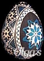 Hand painted Ukrainian eggs. Quail pysanky (wax and dye - batik method.).